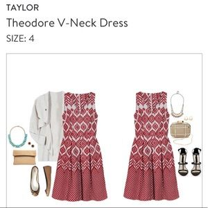 Taylor Theodore V-Neck Dress